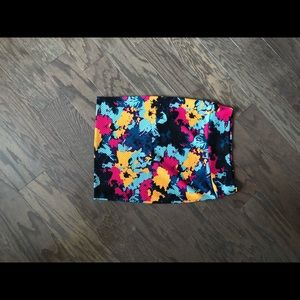 LLR textured Cassie Skirt Sz M EUC jewel tone